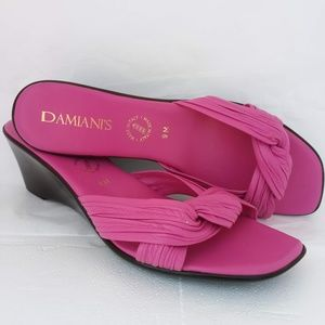DAMIAN'S~ITALIAN MADE~SOFT KNOTTED LEATHER~WEDGE